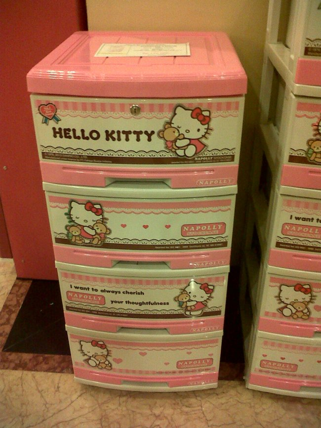 Lemari plastik Hello Kitty merk Napolly